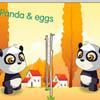 Панды играют в яичный волейбол